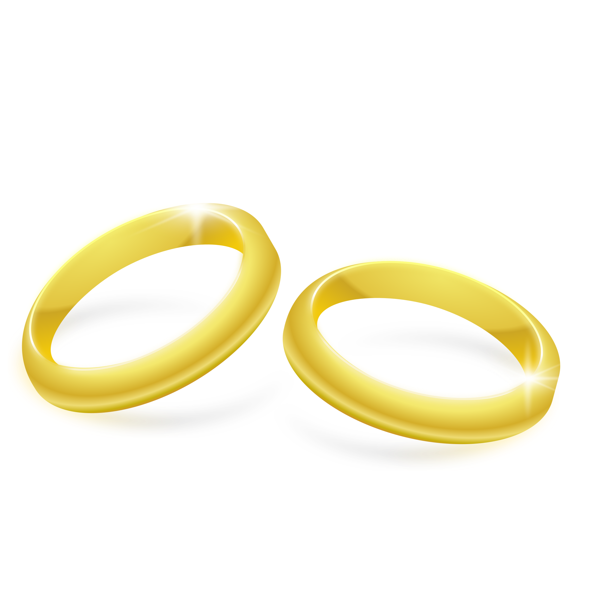 Rings gold png clip. Clipart wedding yellow