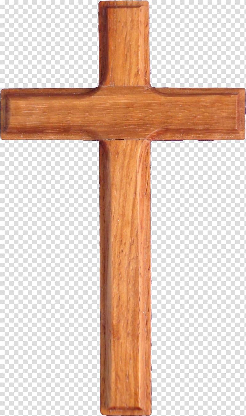 Brown christian wood . Crucifix clipart wooden cross