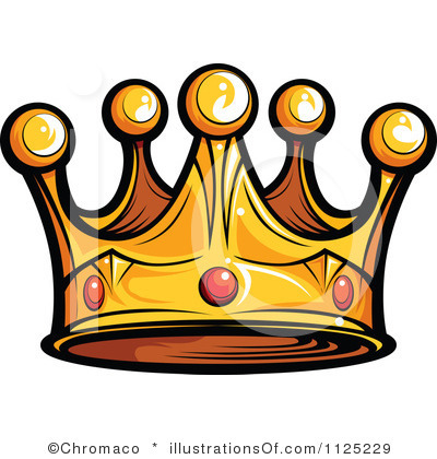 King and queen panda. Crowns clipart