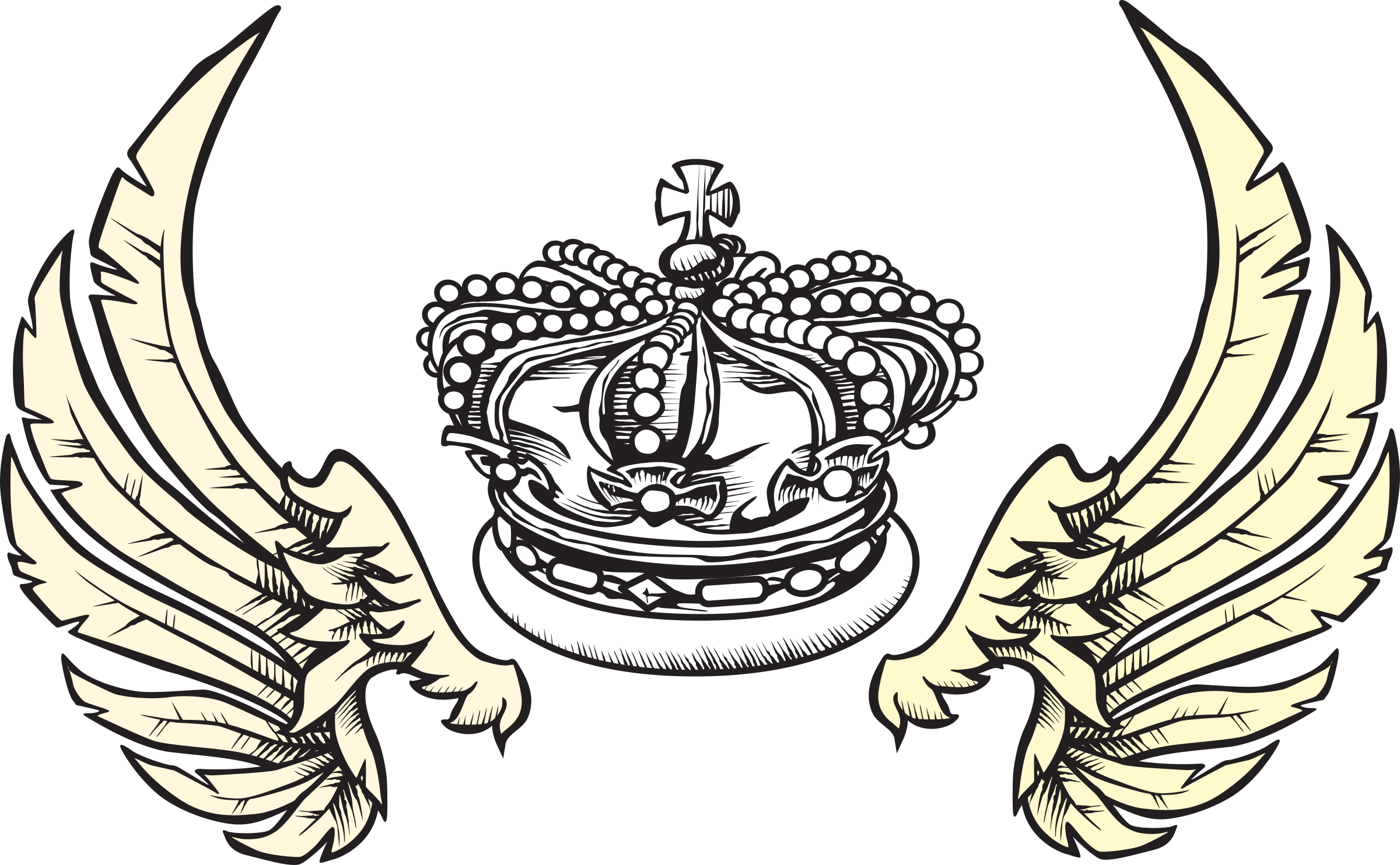 And wings big image. Wing clipart crown