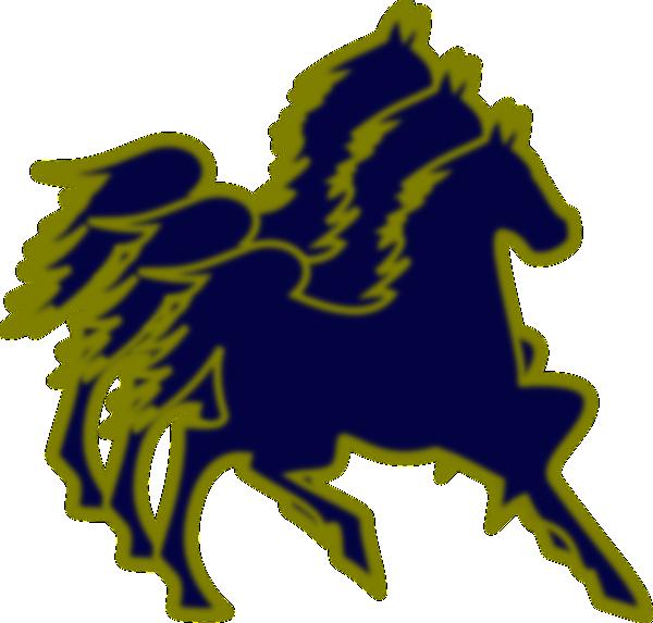 Horses clipart blue. Triple horse and tan