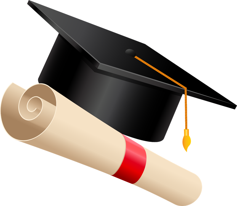Paper clipart graduation. Cap free to use