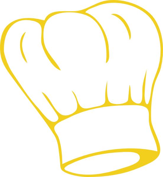 Chef gold clip art. Clipart restaurant bakers hat