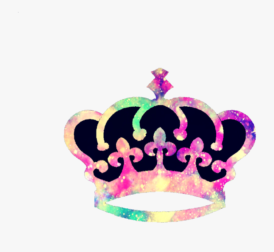 Crown clipart colorful. Ftestickers princess queen cute