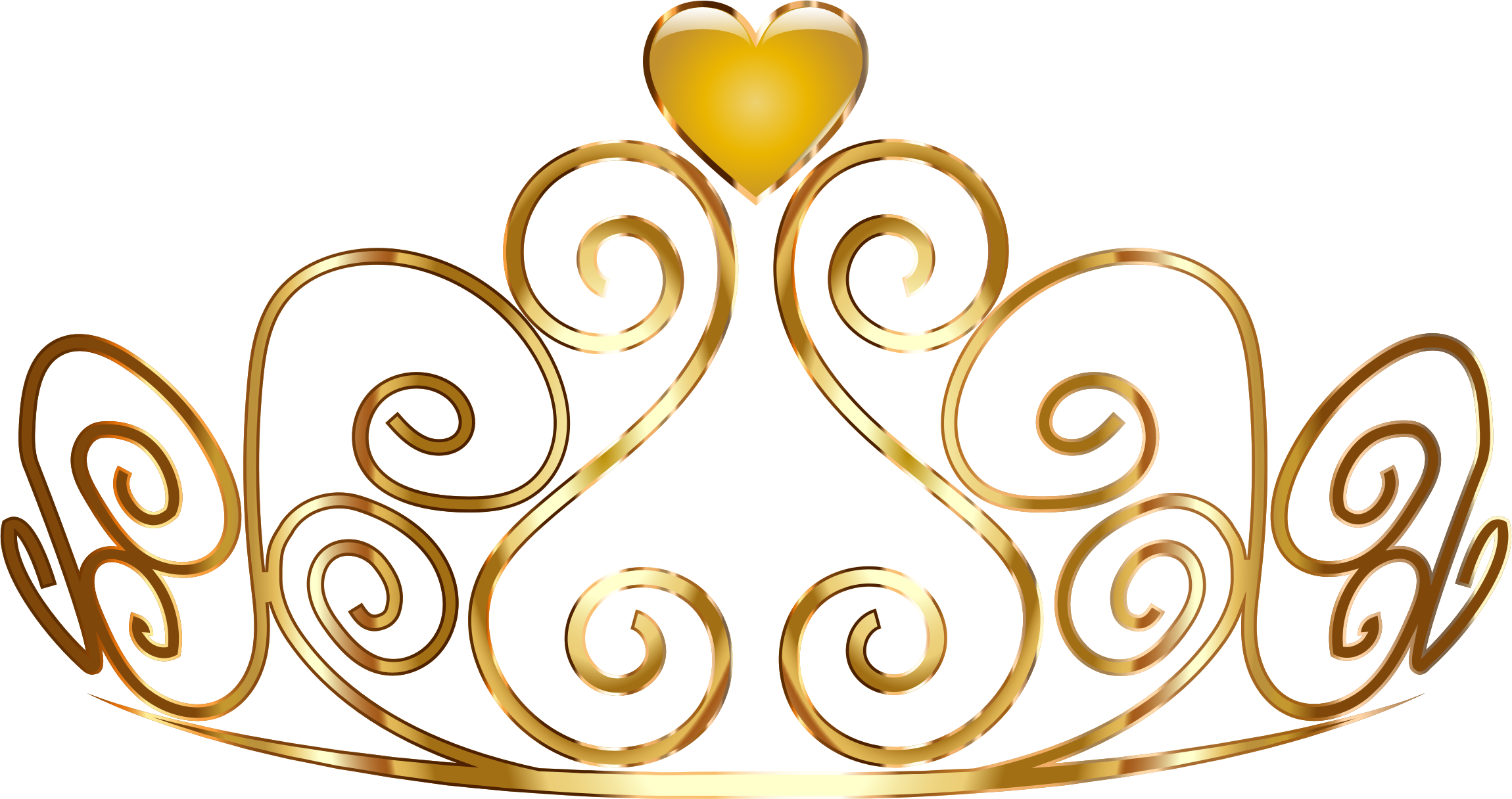 Colorful tiara big image. Queen clipart crown gold