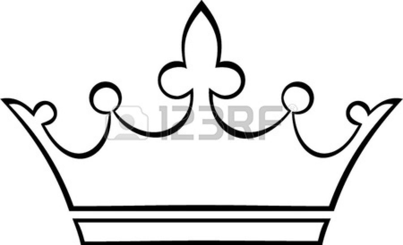 Crown outline panda free. Crowns clipart simple