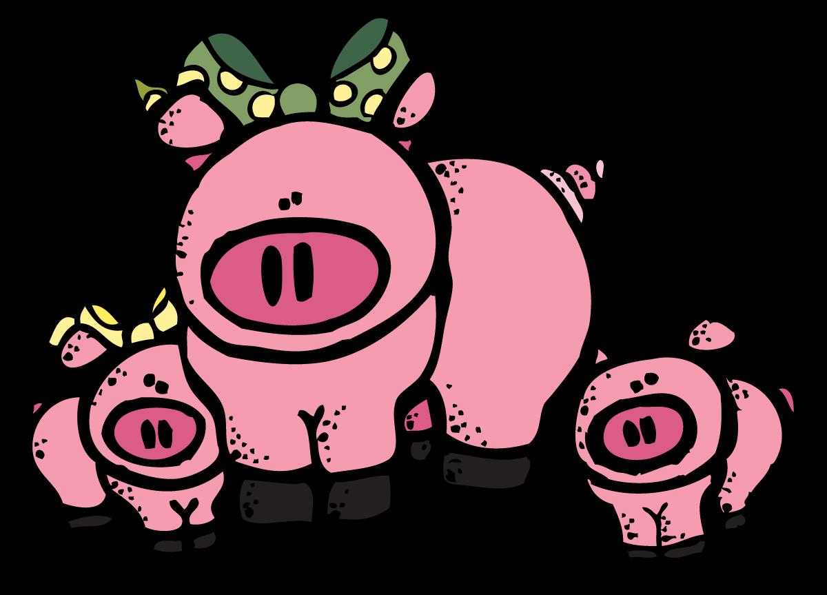 Clipart pig color. Pork evil free on