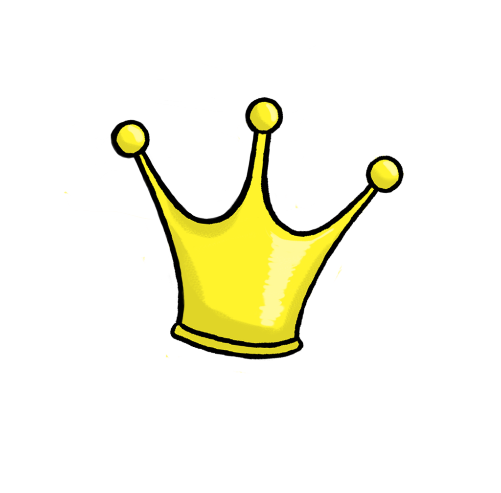 Crown cute pencil and. Queen clipart simple
