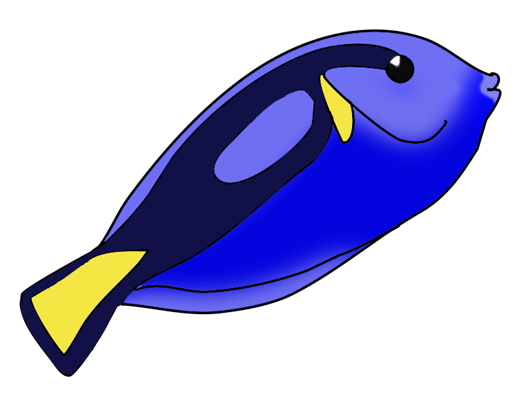 Blue colorful png turning. Clipart fish adorable