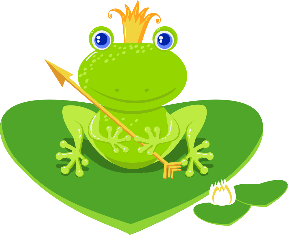 Frog clipart muscular. Princess and the at