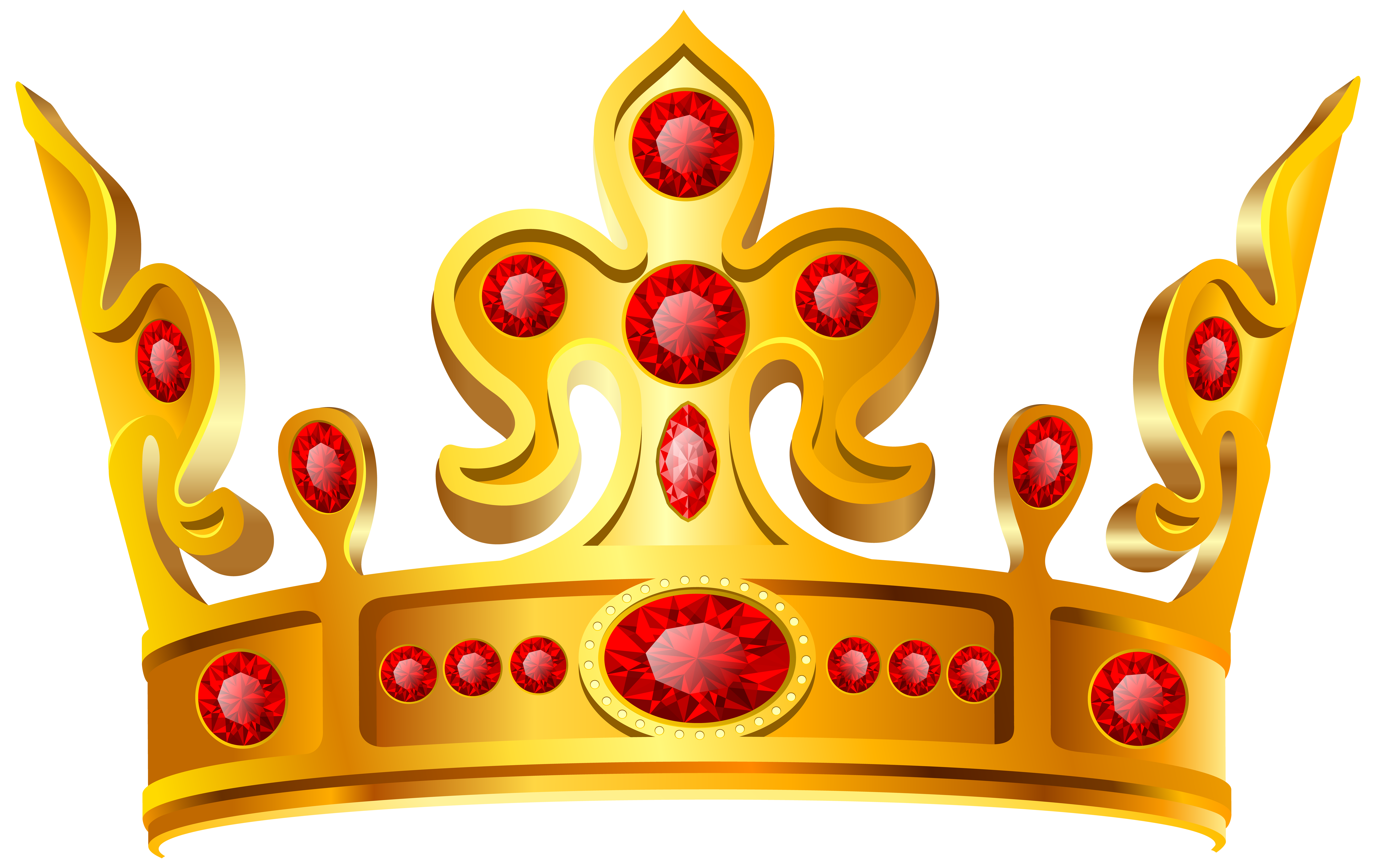 Gold red transparent png. Crown clipart fruit