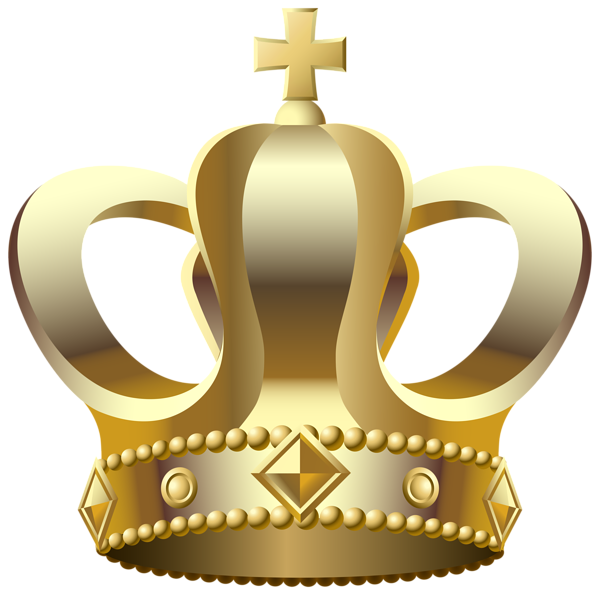 crown clipart gold