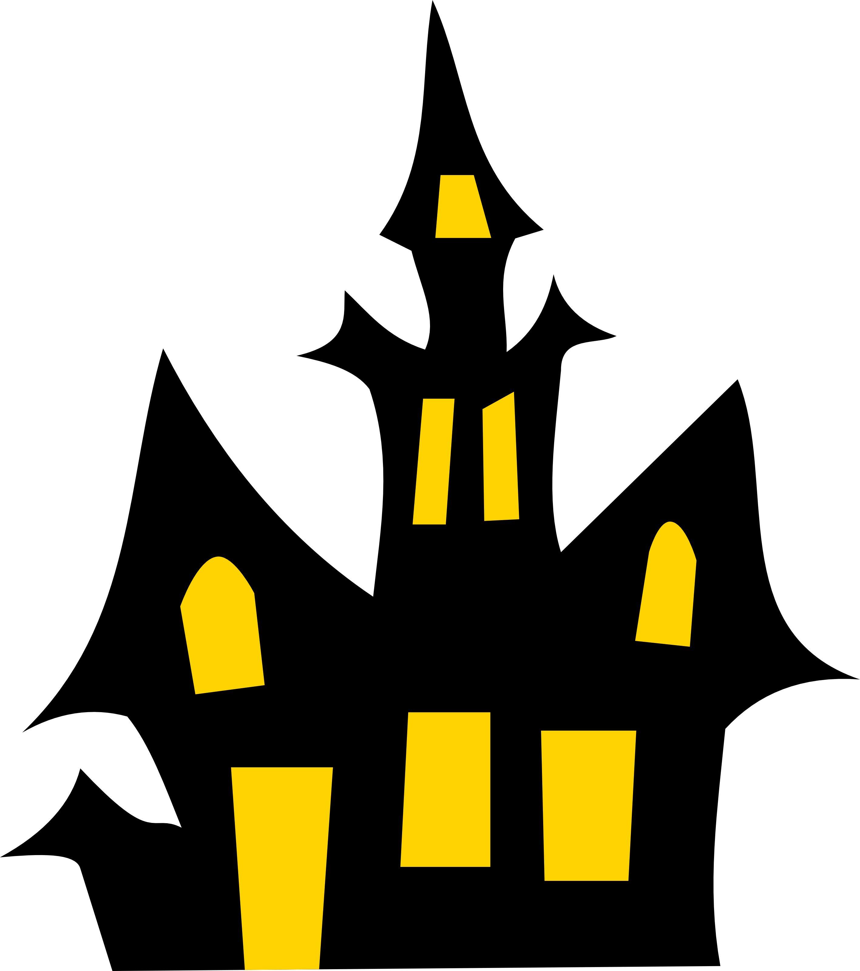 Clipart halloween haunted house. Free vector illustration
