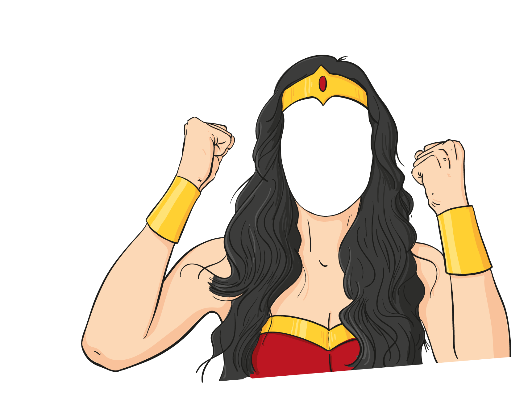 Wonder woman at getdrawings. Number 1 clipart i m