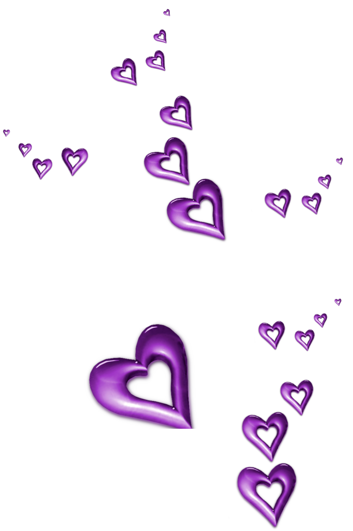 Lavender clipart line art. Purple decorative hearts ornaments