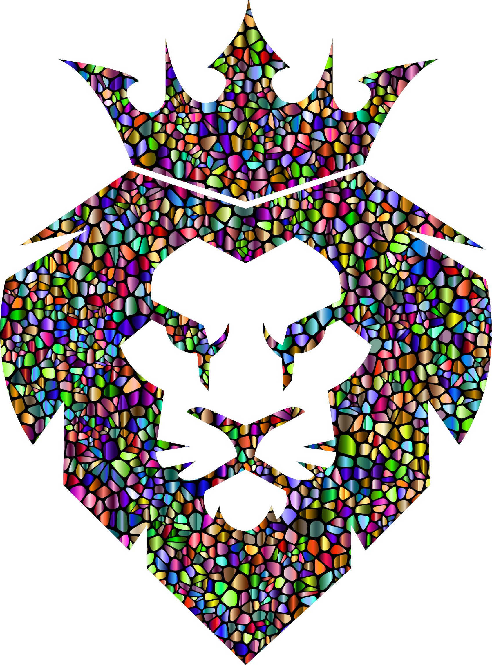 Chromatic tiles king big. Crown clipart lion