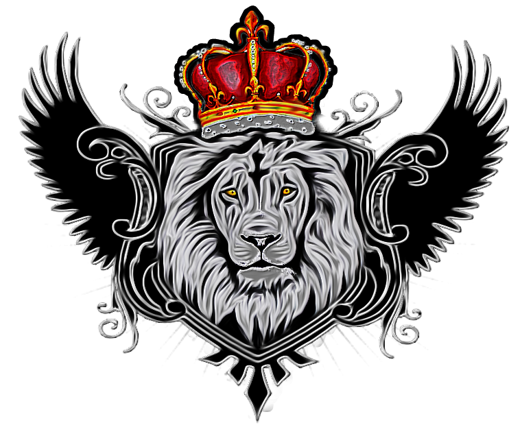 Lion wings couronne sticker. Wing clipart crown
