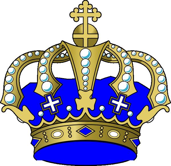 Blue crown clip art. Crowns clipart rainbow