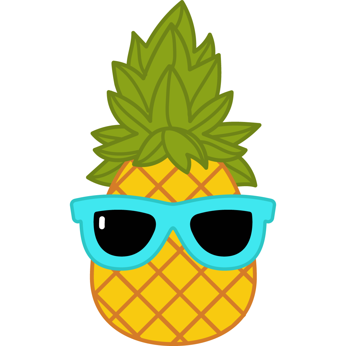 Products craze . Clipart pineapple sunglasses