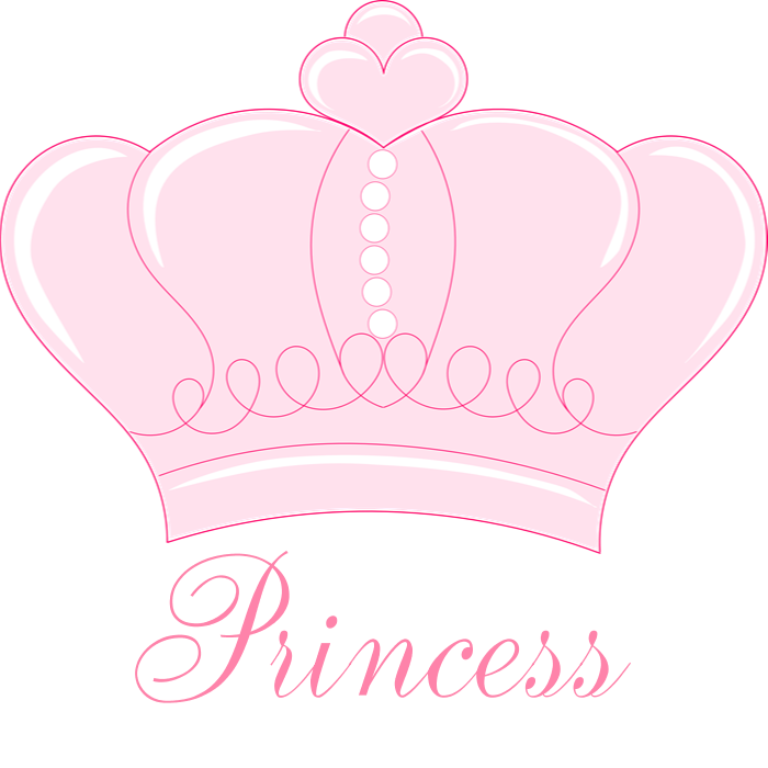 Pink princess shower curtain. Crown clipart colorful