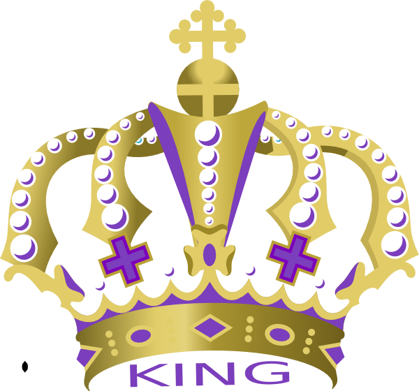 King clip art at. Clipart crown purple
