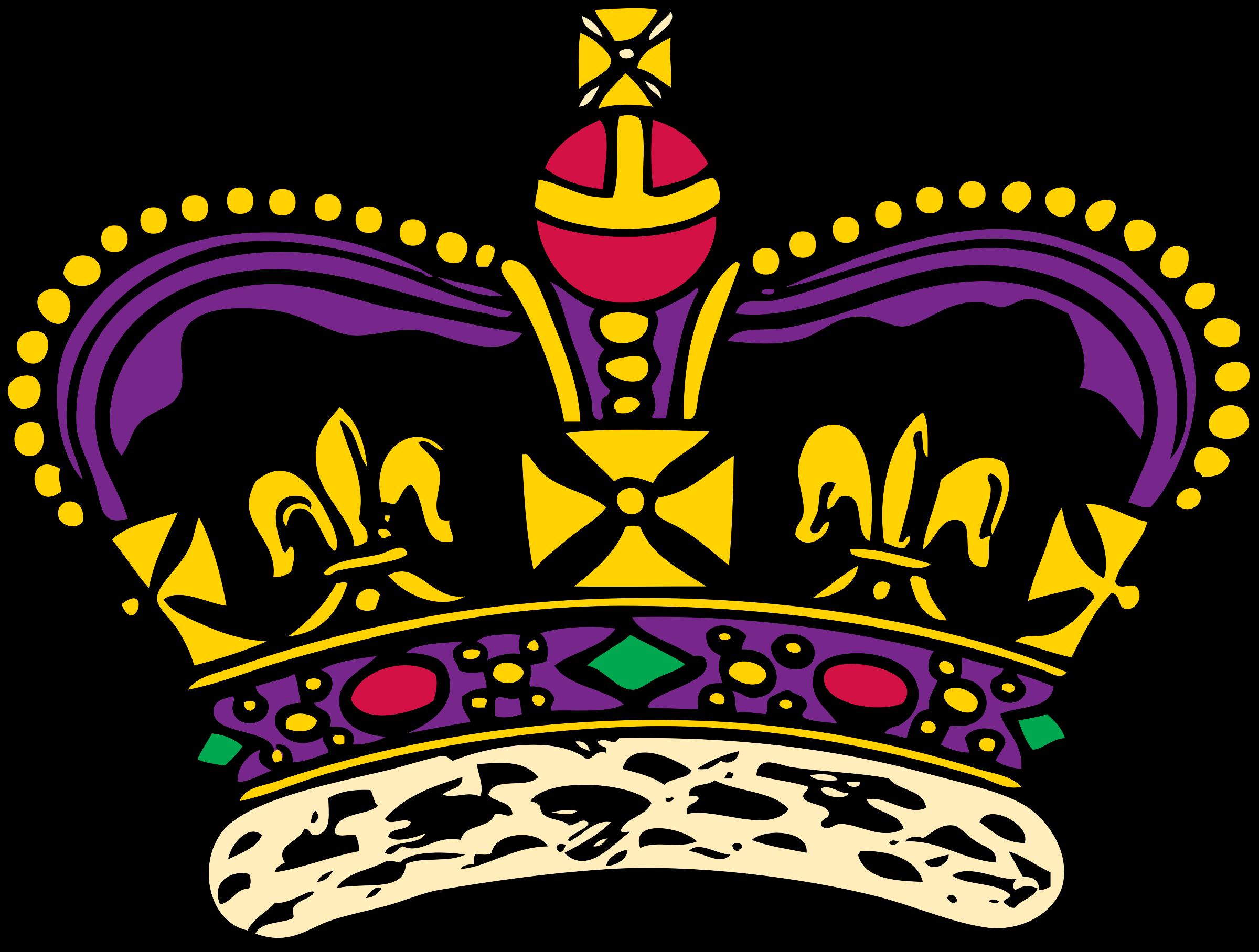 . Clipart crown purple
