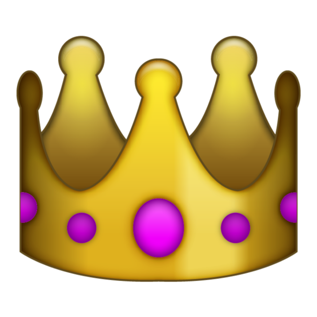 Crown corona reina rey. Queen clipart emoji
