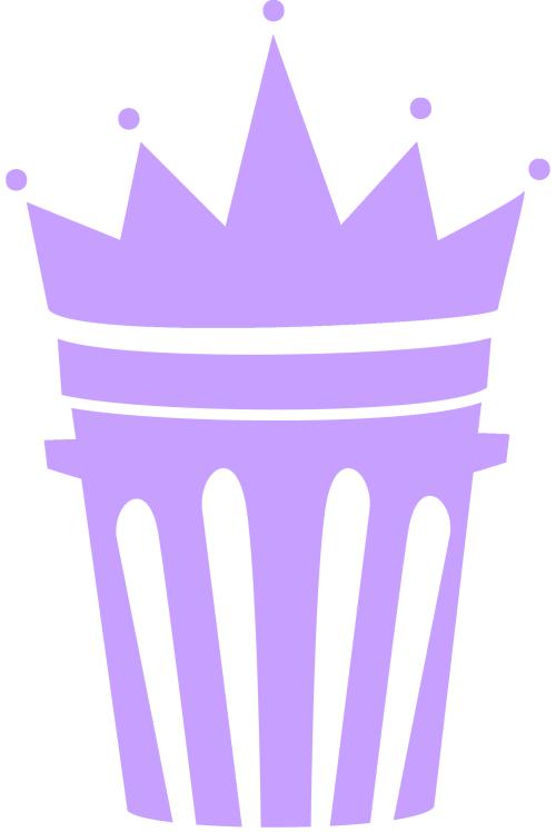 Simple clip art cliparts. Clipart crown purple