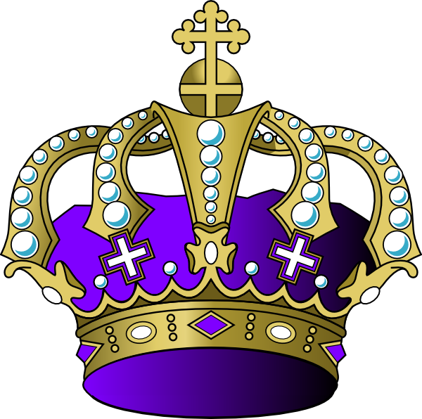 Clipart crown purple. Light clip art at