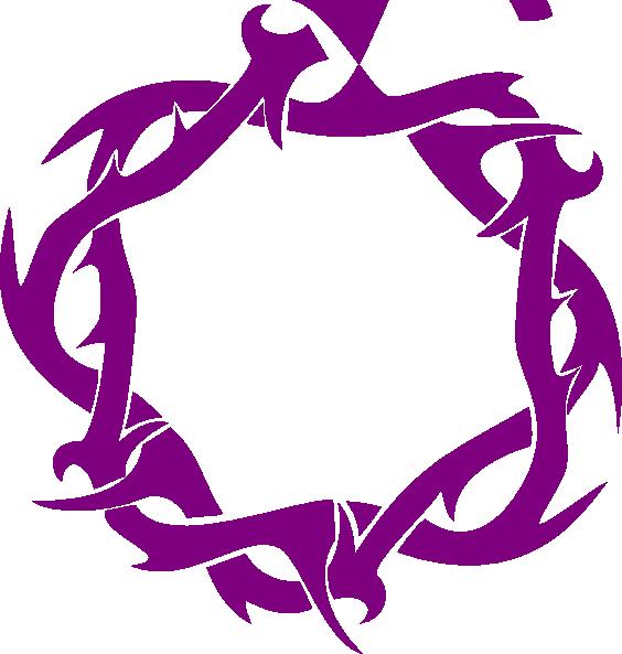 R clipart purple. Thorns clip art at
