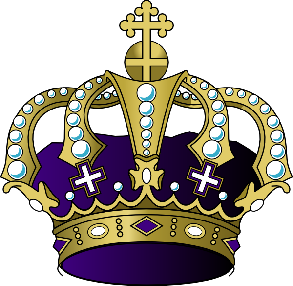 Clipart crown purple. Clip art at clker
