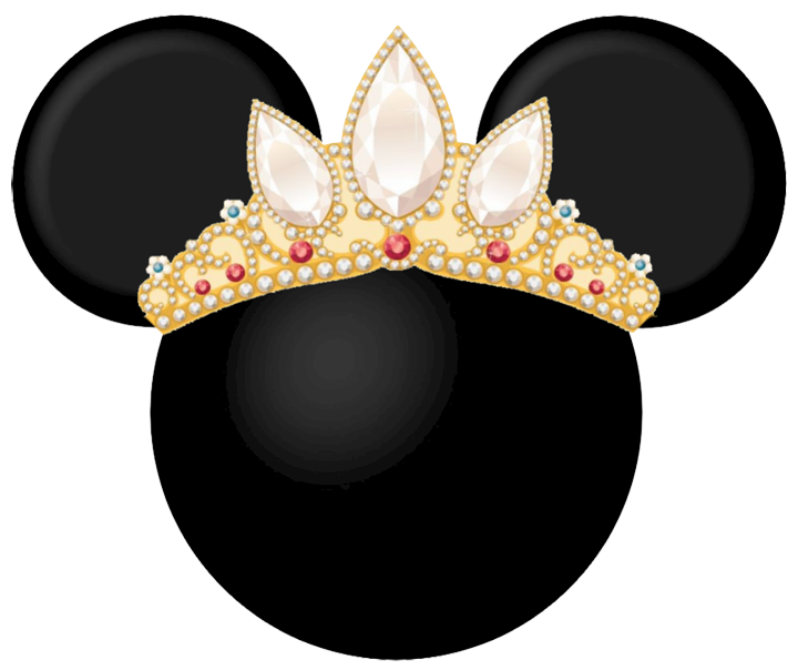 Pencil and in color. Rapunzel clipart crown