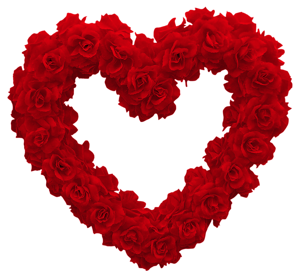 Transparent rose heart png. Clipart hearts flower