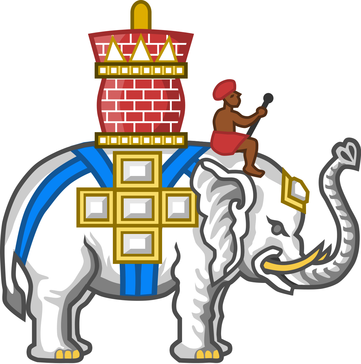 Knights clipart history british. Order of the elephant