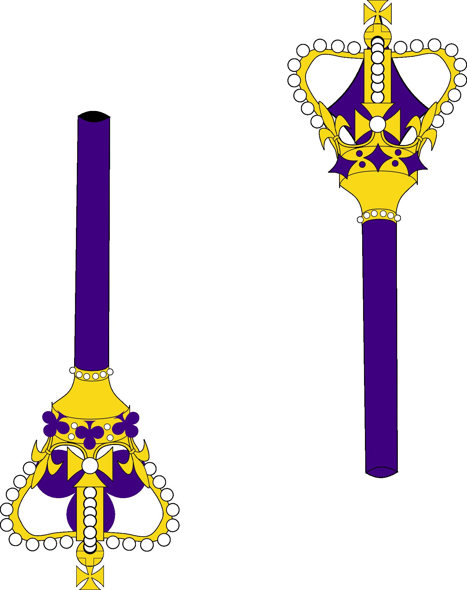 Purple staff bishop free. Crown clipart sceptre