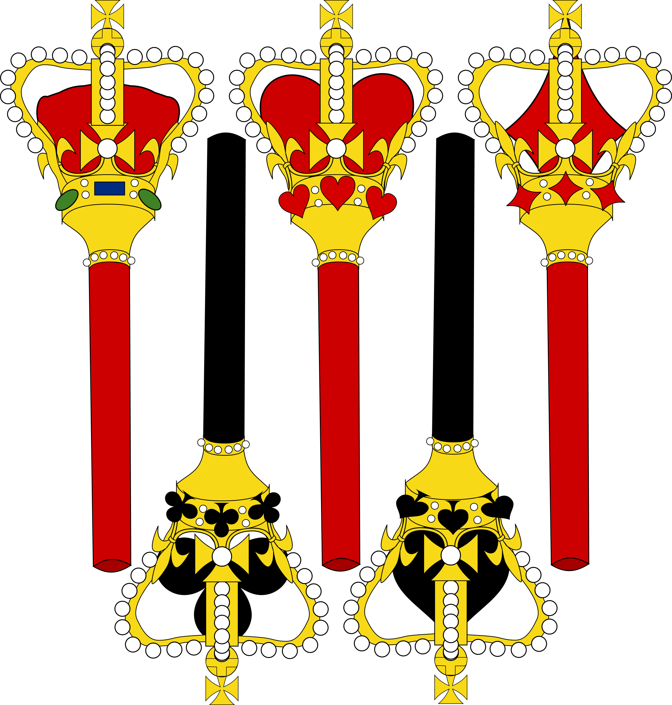 Stylized sceptre for card. King clipart raja