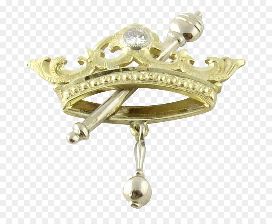 Gold metal transparent clip. Crown clipart sceptre