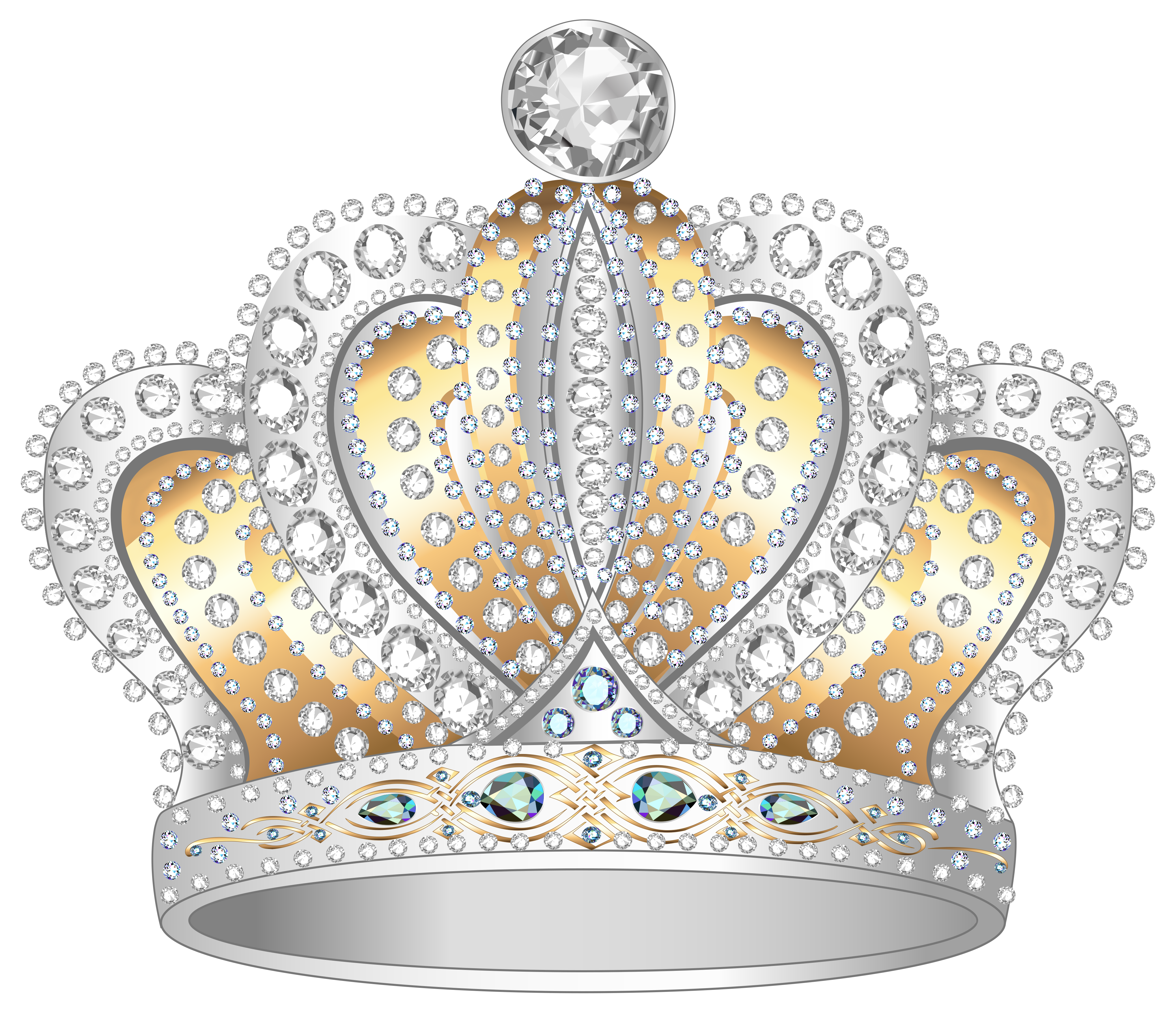 Gold crown png image. Clipart diamond silver diamond