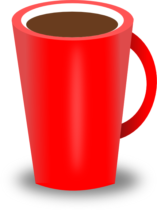 Red coffee i royalty. Cup clipart 3 cup