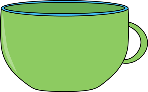 Clipart cup. Green