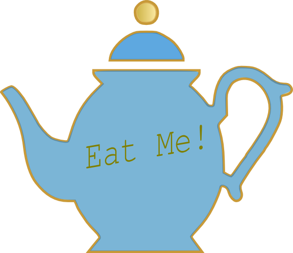 Teapot clip art at. Cup clipart alice in wonderland