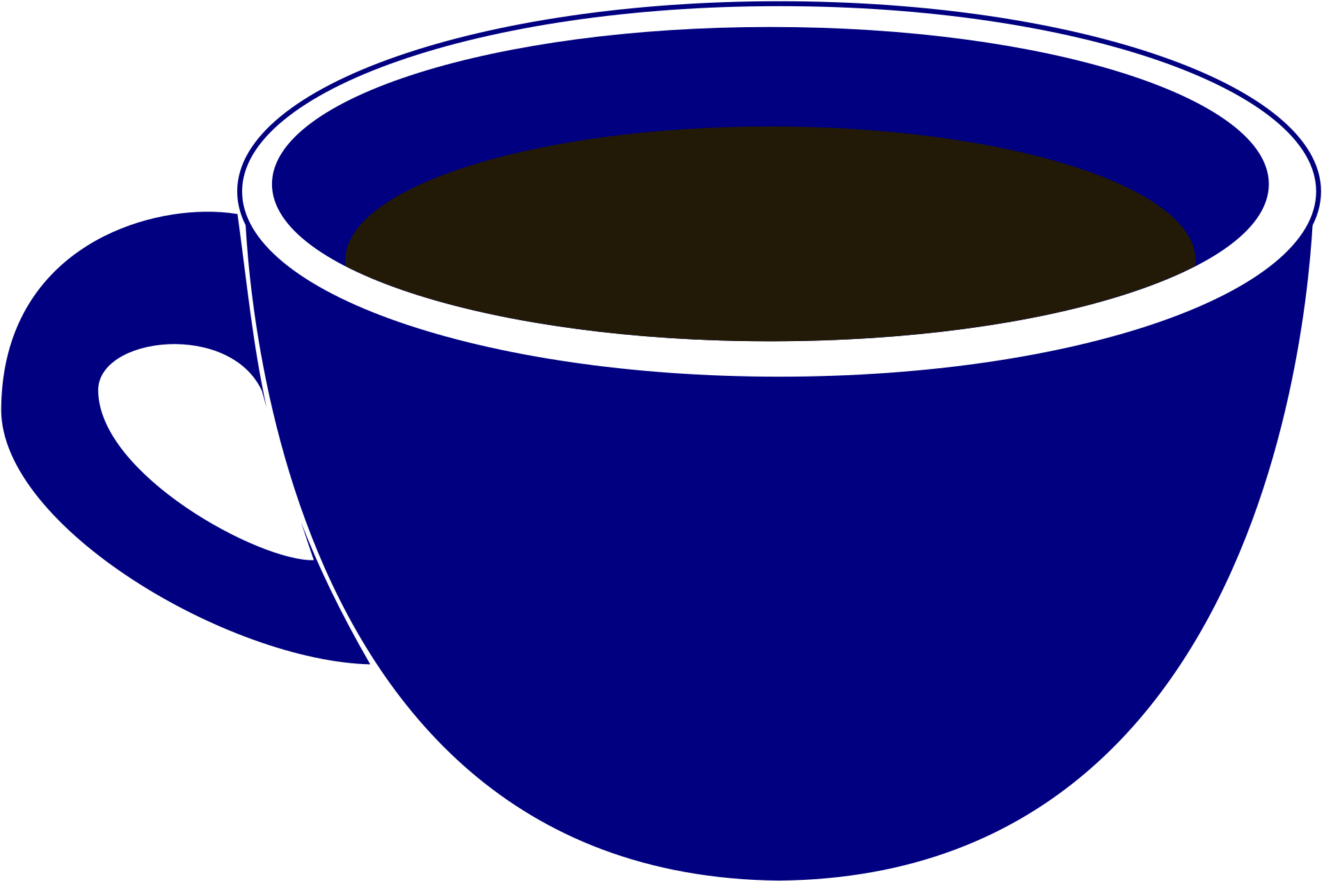Charming idea blue . Cup clipart 3 cup