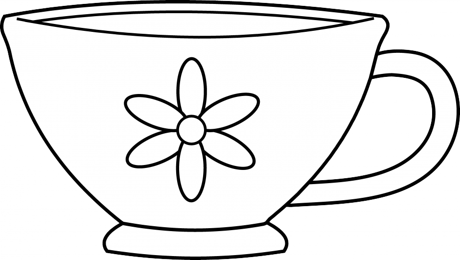 Clever black and white. Winter clipart mug