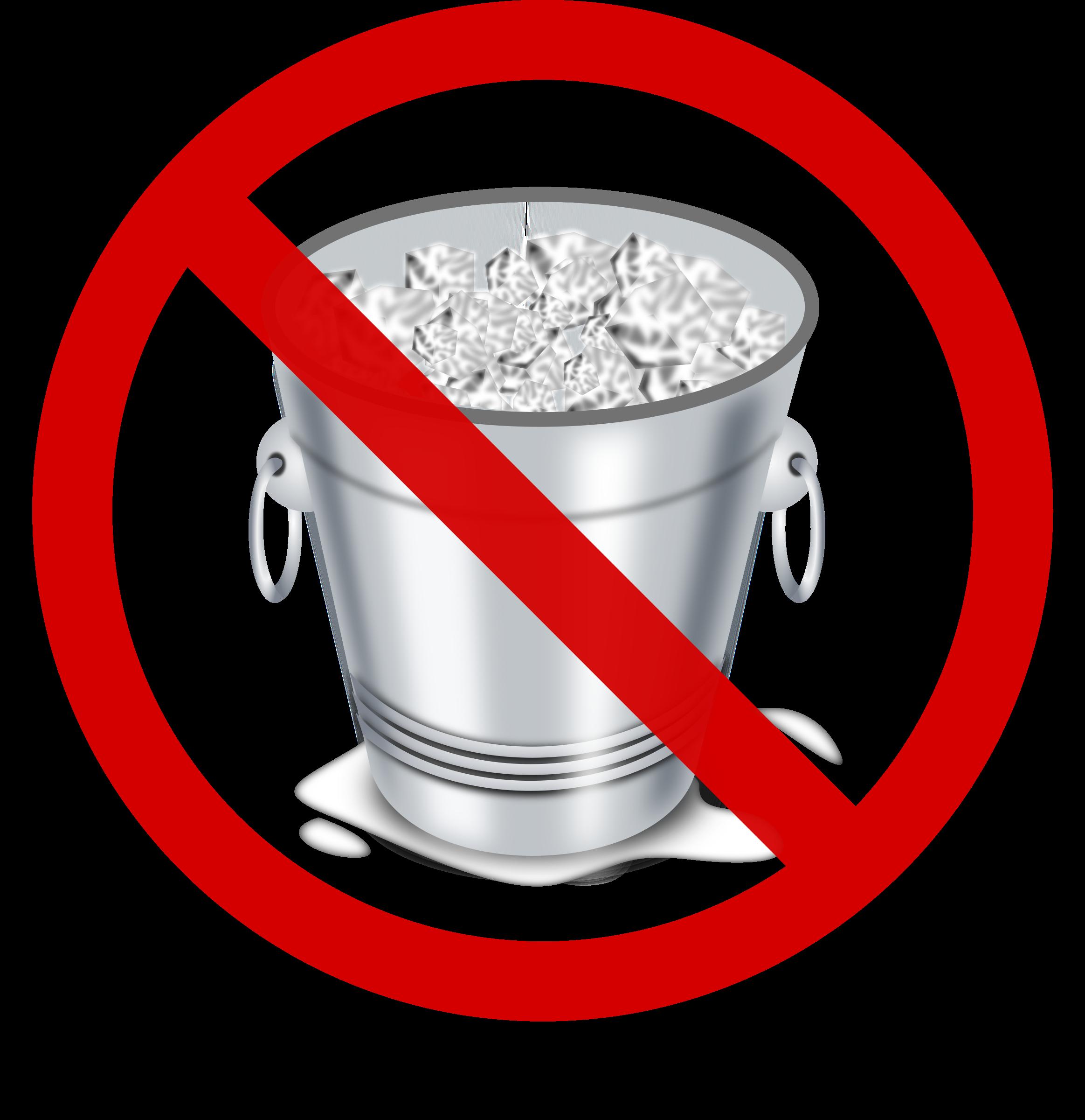 No ice challenge. Mug clipart bucket