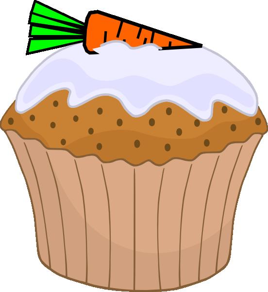 Carrot cake muffin clip. Muffins clipart ckae