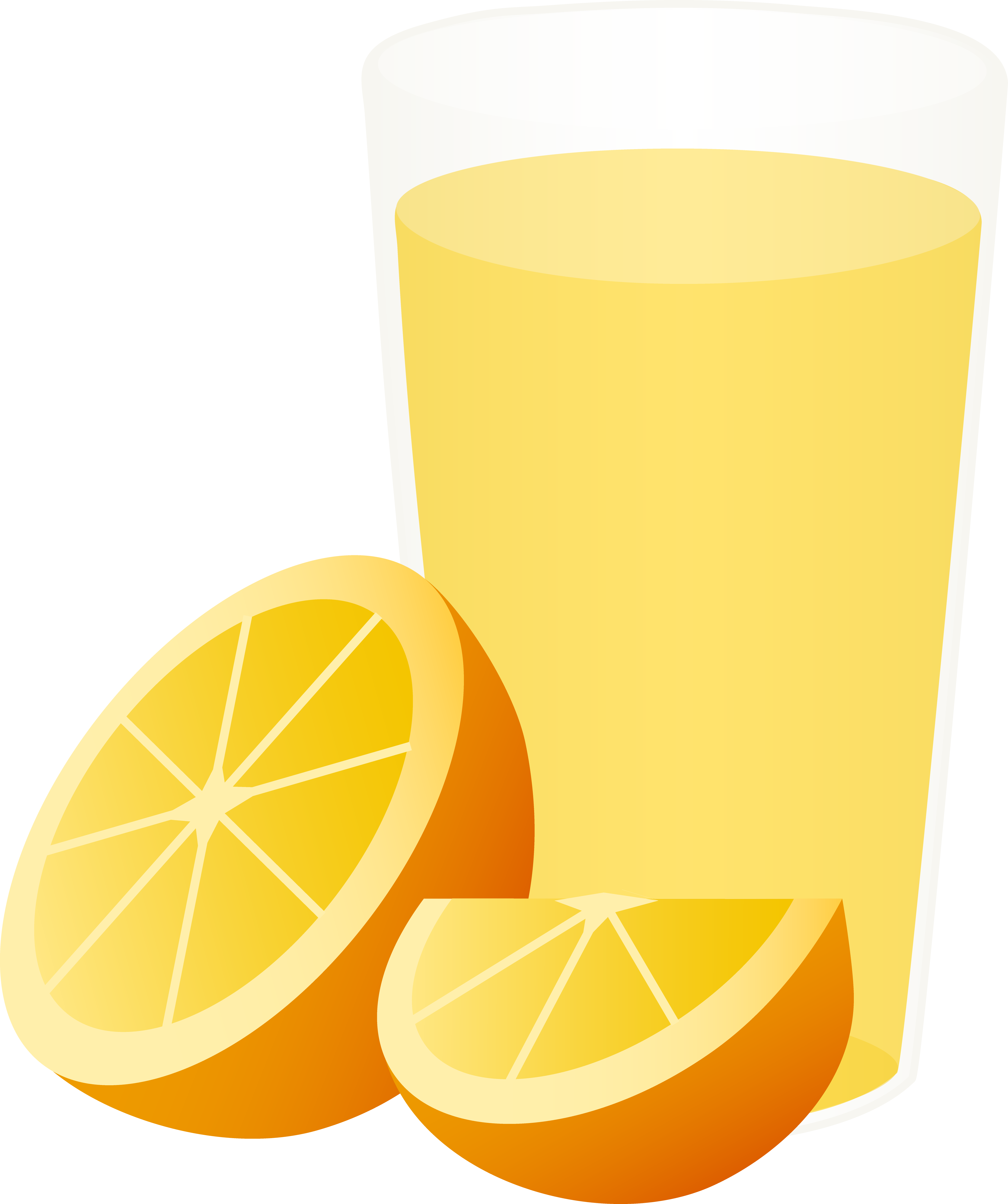 Fruits clipart orange. Glass of juice with