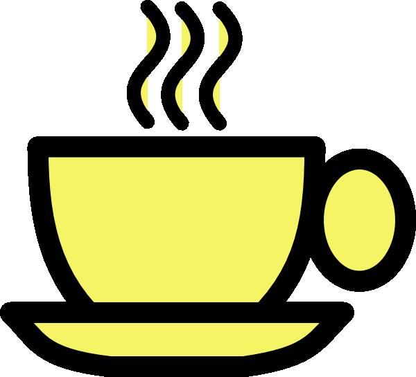 Tea clipart teaset. Yellow cup clip art