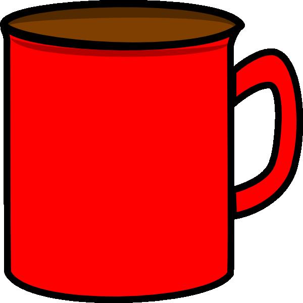 Red clip art at. Mug clipart vector