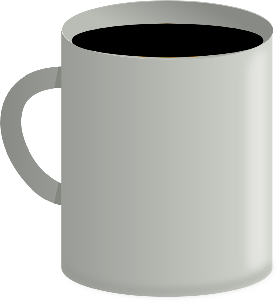 Black clip art at. Coffee cup vector png