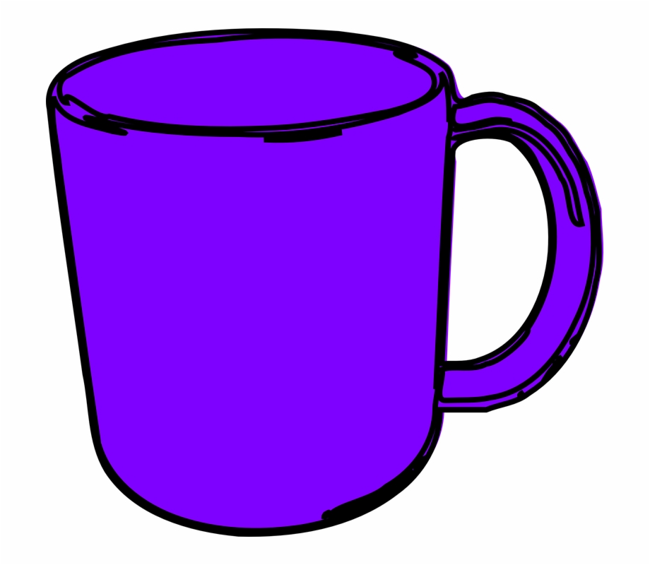 Cups clipart cheap. Purple coffee cup free